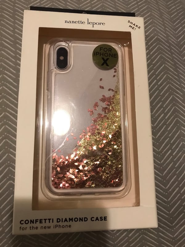 Brand new iPhone X clear confetti diamond case you can shake it !! 867fc941-0f60-4959-8d65-1e2d49f1b71d
