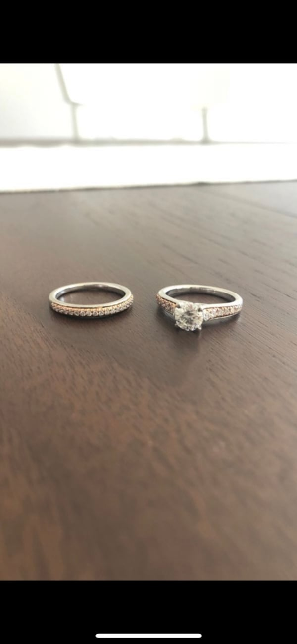 Engagement and Wedding Band Set c63a0a31-3392-4f7a-898c-5e1ae1490584