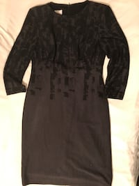 Suzy Chin- Maggie Boutique Grey with black geo pattern Dress  Size 6 Hialeah, 33014
