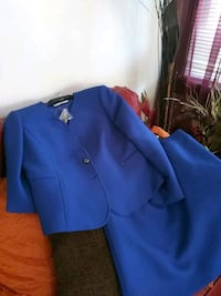 2pc royal blue skirt suit, size 14.  Chicago, 60621