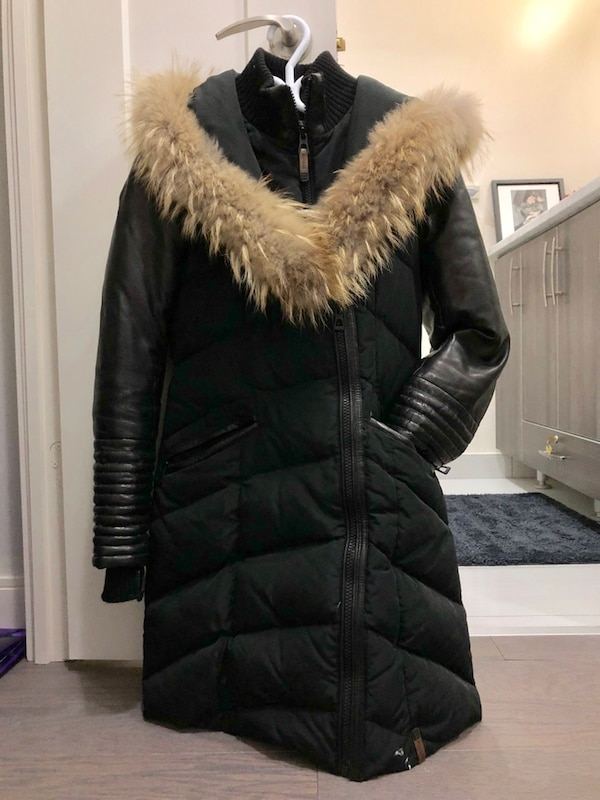 b7013865e65 Used Rudsak Down Coat with Leather Size Small for sale in Toronto ...