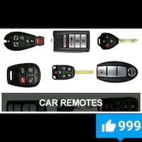 Car Remotes, Fobs, Chipped Keys, Key/Remote Combos Albuquerque