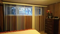 brown wooden window frame with white window blinds Surrey, V3R