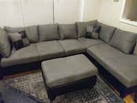 Brand new grey microfiber sectional sofa with ottoman Silver Spring, 20902