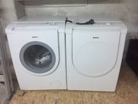 white front load washing machine and dryer set Laval, H7V