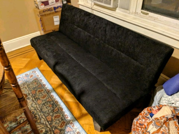 Prime Black And Micro Fiber Futon Gmtry Best Dining Table And Chair Ideas Images Gmtryco