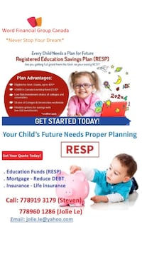 Education Funds (RESP) and Reduce DEBT
