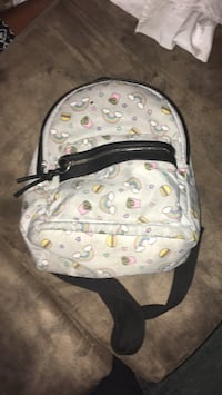 white and brown MCM leather backpack Warner Robins, 31088