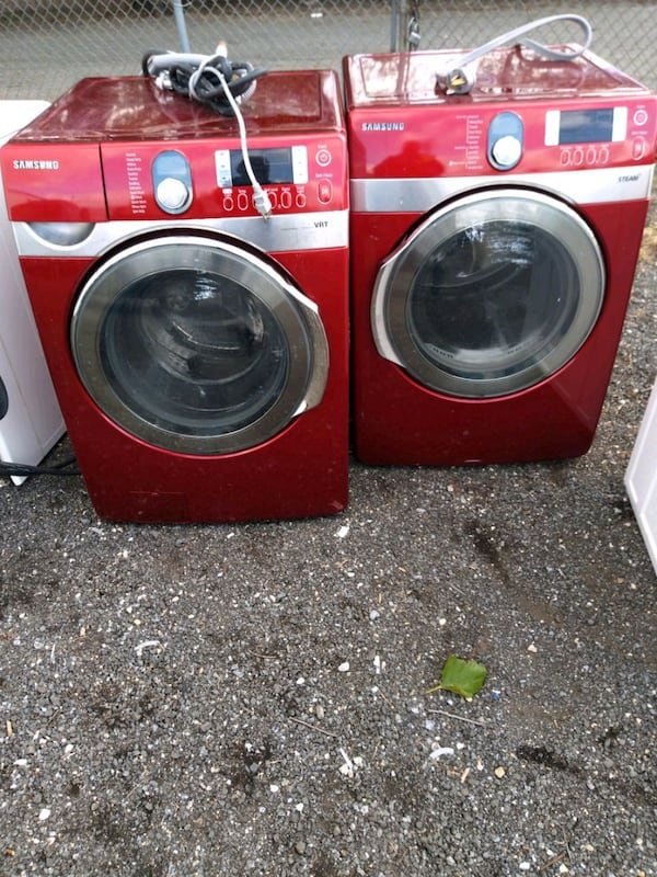 Samsung steam washer and dryer set stainless  (Phone number hidden by letgo)  e9b8c297-ed72-4907-9b7d-efc34bb38734