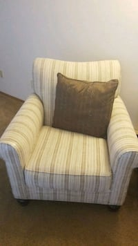 brown and white fabric sofa chair Vancouver, 98683