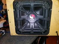 "kicker solo-barik 10"" sub with 2 boxes Edmonton, T6K 2B5"
