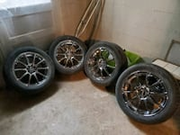 """17"""" tires and wheels 3 tires are like new or trade set wheels fit 07 e Stephens City, 22655"""