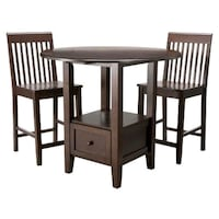 Wooden Pub Storage Table with four chairs Athens, 30606