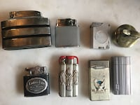 Vintage lot of bic ronson refillable lighters