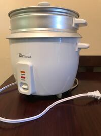 White elite gourmet rice cooker Alexandria