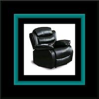 Black recliner chair 52 km