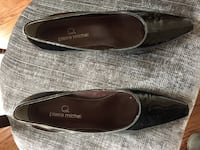 Size 7 black leather shoes