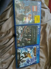 four assorted PS4 game cases London, N6G 2H1