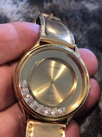 round gold-colored analog watch with link bracelet Rockville, 20851