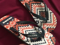 """NFL Chicago Bears Flip Flop Sandals womens size Large """"Brand New"""""""