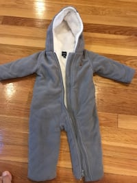 Gray zip-up baby winter jacket 3/6 months Newton, 02461