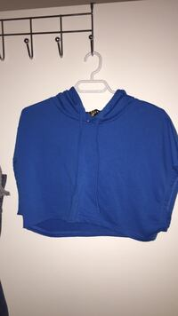 Blue pullover hoodie sleeveless