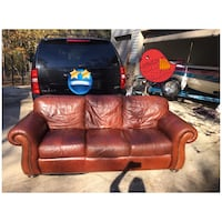 Brown Havertys leather couch Newnan, 30263