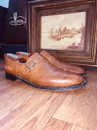 CHURCH'S • WESTBURY • Walnut Brown, Silver Buckle Monk Strap, Leather Shoes Silver Spring, 20903