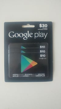 $30 Google Play cards