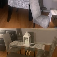 Four dining chair (Grey)