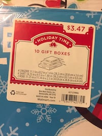 2 sets of Christmas gift boxes 244 mi