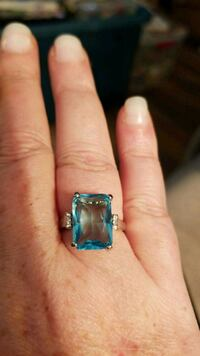 Sterling Silver Aquamarine Ring for Sale  Red Deer, T4P 3Y9