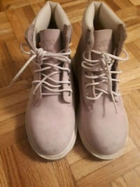 Blush pink Timberland worn once  size 13 for kids