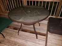 Outdoor glass patio table 3 feet wide