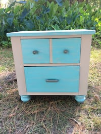 Blue and Light Gray side table Minden, 71055
