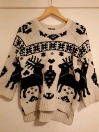 H&M black and white knitted sweater size S Oslo, 0864