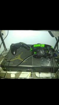 black Xbox One with controller and corded headset Anaheim, 92804