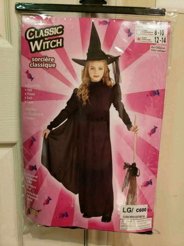 Witch Costume, size 12-14