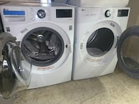 New LG front load washer & electric dryer set with warranty
