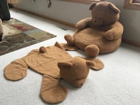Plush Kids Bear Chair and Matching Rug