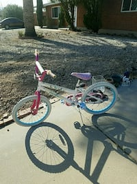 toddler's pink and white bicycle with training whe Tucson, 85710