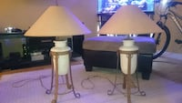 two white base white shade table lamps Lakeville, E1H 1H4