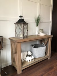 Brand new solid wood console/entry table