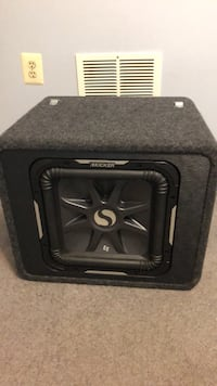 Black and gray kicker subwoofer speaker 12 inch In perfect condition used for two years. New cost 360. Cost a lot more when I bought it. Will only meet local in Woodbridge or Manassas  Manassas, 20112