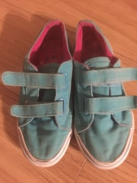 Pair of toddler's teal low-top sneakers