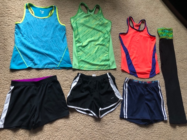 Girl size 10/12 athletic clothes for $40 d32af494-625e-4bef-8bf8-5ef99e2ad52b