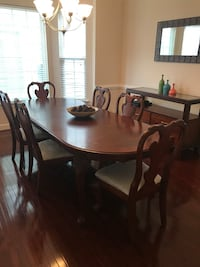 8 piece dining set $800 OBO. Solid cherry wood Falls Church, 22041