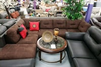 Modern sectional on sale in brown fabric  Toronto, M9W 1P6
