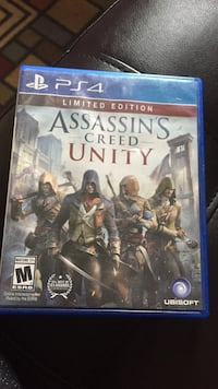 Ps4 assassin's creed unity game case Burlington, 05401