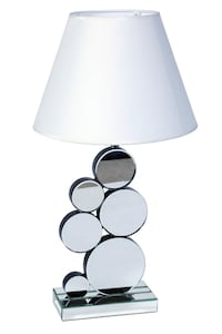 LAMP, MIRRORED TABLE LAMP